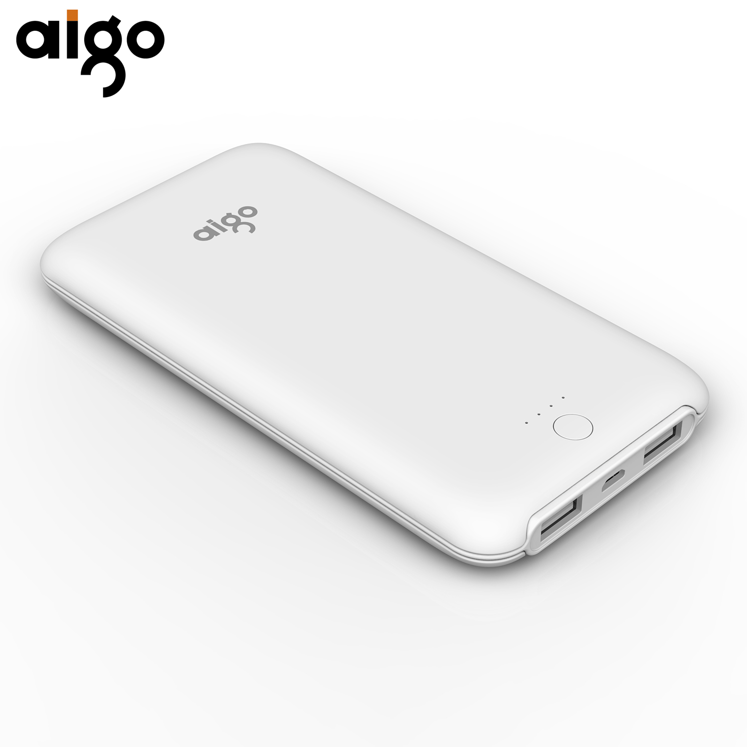AIGO Power Bank 10000MAH Full Capacity T10000 Dual USB Portable Charger External Battery Pack Super Thin Power Supply Powerbank(China (Mainland))