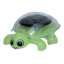 Mini solar energy green turtle toy for children