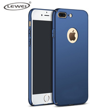 LEWEI New Luxury 3D Hard Back Plastic Matte Case for iPhone 8 Plus Cases Full Cover PC Phone Cases for iPhone 7 Plus