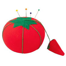 Novelty Cotton Tomato Shaped Ball Crafts Sewing Needles Holder Pin Cushion DIY Sewing Tool Accessary Kit KT0288