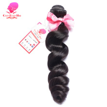 QUEEN BEAUTY HAIR Loose Wave Brazilian Hair Weave Bundles Remy Human Hair Extensions Natural Black Color Free Shipping