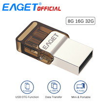 EAGET V9 Micro USB OTG USB Flash Drives Pen Drive 32G 16GB 8GB Memory Stick External Storage for Xiaomi Android Phones Tablet PC
