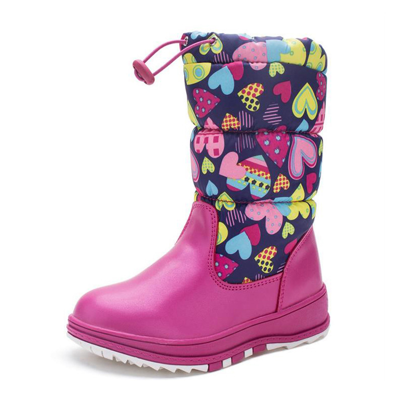 Dollplus   Winter Fashion Printing Warm Russian Girl Shoes Anti-skid Waterproof Beautiful Outdoor Shoes Eur 27#-32# <br>