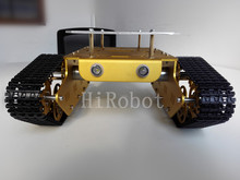 T300-D Double Board Version, Aluminum alloy smart tank chassis with robot arm interface, for DIY, Robot study project,progamming