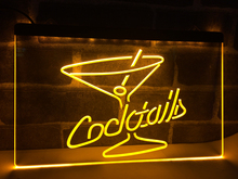 LB522- Cocktails Rum Wine Lounge Bar Pub   LED Neon Light Sign    home decor  crafts
