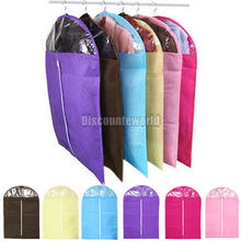 Transparent dust cover with cotton-padded for suit overcoat jacket clothes Dress Cover Case Dustproof Storage Bags Protector W1