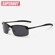 SUPERHOT - Polarized Men's Sunglasses Alloy frame Best Driving Sun glasses Fashion eyewear Cat.3 UV400 SP3043 Drop Shipping(China)