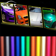 car styling Matte Chrome Vinyl Car Wraps Sticker Color Changing Car Sticker With Air Bubble Auto Accessories(China)