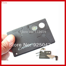 New Multifunction 8 IN 1 Mini Pocket Outdoor Survival Camping Credit Card Knife with Steel Blade, Lens & Compass
