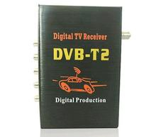Good Signal with 2 exits external Digital television box dvbt2 receiver car TV DVB-T2 use for Russian District antenna tuners