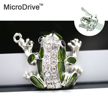Crystal usb flash drive 128G 64G 32GB 16GB 8GB 4G pen drive pendrive waterproof diamond usb stick frog memoria stick flash drive