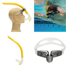 Snorkel Diving Swimming Snorkel Tube Center Snorkel with Adjustable plastic holder Scuba Diving Breathing Tube Diving Equipment(China)