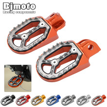 FP-205 One pair FX CNC Dirt Bike Foot Pegs Footrest Shark Teeth For KTM Husqvarna 85cc-530cc All 2005-2015(China)
