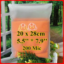 Free Shipping 100pcs/lot 20cm*28cm*200mic Frosted Plastic Bag, Christmas Garment Pouch, Plastic Zip Bag, Resealable Plastic Bag