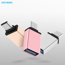 KEYSION Type C Phone Adapter Male to USB 3.0 Female USB Type-C OTG Adapter for samsung GalaxyS8 S8 PLUS Macbook(China)