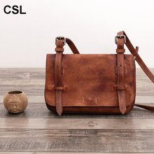 Limited edition luxury women messenger bags retro quality Cowhide genuine leather woman shoulder bags(China)
