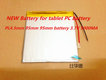 Free shipping Teclast p85  4.5*95*95mm tablet battery Polymer battery 3.7V 5000MAH 4.5*95*95mm