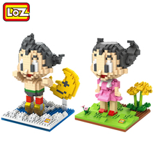 LOZ Astro Boy Tetsuwan Atom Astroboy Action Figure Toy Diamond Building Blocks Children Educational DIY Toy 14+(China)