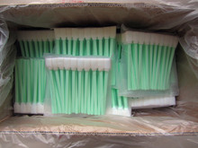 50pieces/pack FOAM TIP CLEANING SWABS for Cleaning Solvents  Head Cleaners Flux Removers and Other Fluids factory