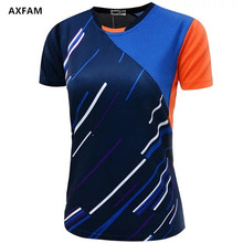 AXFAM Women Tennis Shirts 2017 Quick Dry Breathable Sports outdoor Shirt Perfect quality Badminton Table Tennis Clothing NM050