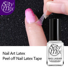 Sexy Mix 1pcs Skin Cream for Professional Nail Polish Peel Off Liquid Tape Latex Tape Tear Easy Clean Care Base Gel Coat 7ML