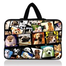 "12"" Dogs Laptop Soft Carry Sleeve Bag Case For Samsung Google 11.6"" Chromebook,11.6"" Samsung ATIV Smart PC 500T 700T(China)"