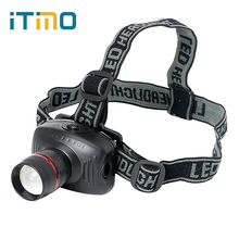 ITimo LED Headlamps Flashlight Energy Saving Emergency Light 3 Modes Super Bright For Outdoor Activities Spotlight Headlight(China)