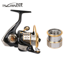 TSURINOYA F2000 Full Metal 8+1BB Saltwater Fishing Spinning Reel Double Spool  5.2:1 Fish Carretilha Feeder Carp Spinning Reel