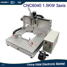 Free Shipping CNC 6040 Z-VFD 1.5KW water cooling spindle CNC engraver milling machine carving router