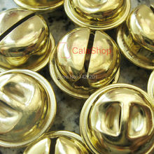 50 pcs / Lot 20mm Huge Gold Jingle Bell Pet Bell Charms craft sewing Free Shipping A82