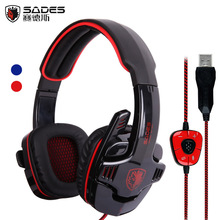 Sades 901 SA-901 SA901 USB Gaming Headset 7.1 Surround Sound Game Headphone Earphone with Microphone for PC computer Gamer