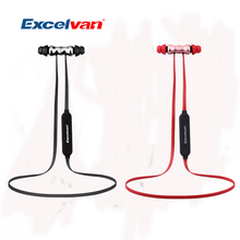 Original Excelvan BTH-831 Wireless Bluetooth Earphones Sports Musical Headsets Noise Isolation Black And Red Color Headsets(China)