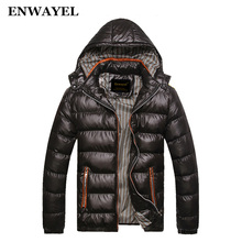 ENWAYEL Autumn Winter Jacket Men Coat Outerwear Fashion Hood Padded Quilted Warm Male Jackets Parka Hooded Casual Wadde 2200