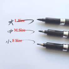 3 pcs/Lot High Quality Japan brush pen for signature write Calligraphy pen Black ink Stationery school supplies papelaria 04315