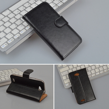 High Quality Protective Case For ZTE Blade Q LUX 4G Cover with Stand and Card Holder 4 Colors in Stock