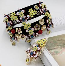 baroque style in Europe and the United States in 2016 microscope collar flash drilling hollow out retro hair flowers(China)