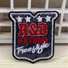 Embroidered iron on patches for clothes logo R&B XKTONG Badge deal with it clothing biker patch DIY Motif Applique Free shipping