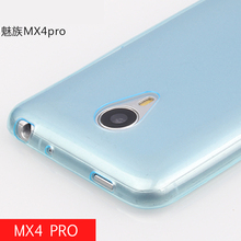 Sales promotion 4 colors For Meizu MX4 Pro 5.5'' Transparent Clear Soft Back Phone Cover TPU Rubber Silicon Big Discount(China)