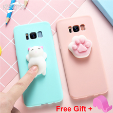 Buy KISSCASE Squishy Cat Phone Case Samsung Galaxy S8 S7 S6 Note 8 J3 J5 J7 A3 A5 A7 2017 Cases 3D Cute Silicon Thin Girly Cover for $2.99 in AliExpress store