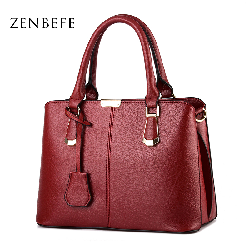 ZENBEFE Women Bags Fashion Women Leather Handbag Designer WomenS Totes Brands Shoulder Bolsas WomenS Messenger Bags Daily Bag<br><br>Aliexpress