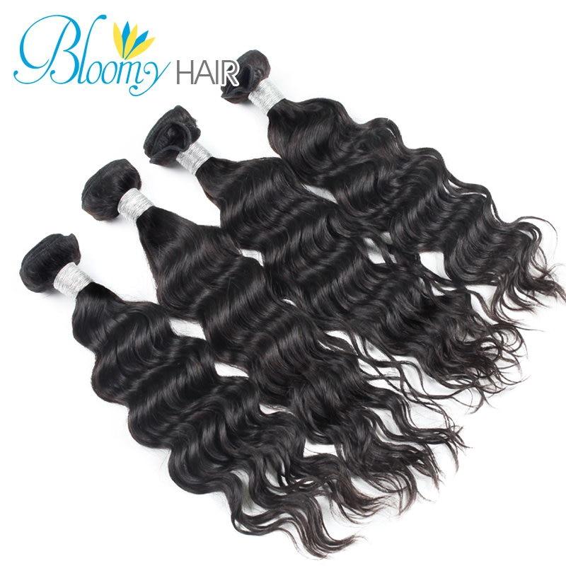 6A 4 Bundles Lot Indian Virgin Human Hair Weave Wavy Indian Virgin Hair Natural Wave with Free Shipping<br><br>Aliexpress