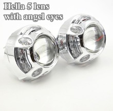 3.0 inch hella 5 car Bi xenon Bixenon hid Projector lens led angel eyes day running metal holderD1S D2S D3S D4S