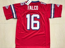 Stitched Shane Falco #16 The Replacements Movie American Football Jersey Keanu Reeves Mens Red S-3XL Viva Villa Free Shipping(China)