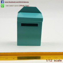 1:12 Scale Miniatures Dollhouse Fairy Houses Gardens Ideas Elf Tooth Door Mailbox Kids Toys Miniature Letter box(China)