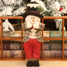 40*15CM Christmas Decorations DIY Christmas Gifts Felt Cloth Ornaments Dolls Natale Ingrosso Christmas Decorations for Home(China)