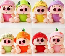 creative fruits design cute Mcdull pig plush toy about 18cm soft toys one lot / 8 peices,party activity gift birthday gift b4967(China)