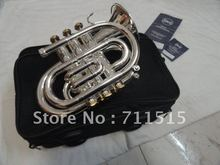 New Arrive Inventory Bb Pocket Trumpet Small Trompeta French Horn Bocal Trompete Appearance Silvering Double
