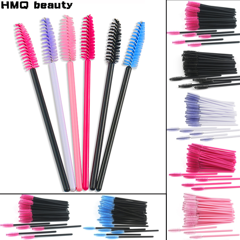 Eyelash Extension Disposable Eyebrow brush Mascara Wand Applicator Spoolers Eye Lashes Cosmetic Brushes Set makeup tools(China)