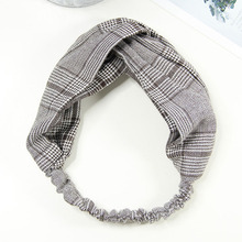 New Comfortable Fabric Fashion Classic Lattice Cute Pattern Printing Butterfly Knot With Headband(China)