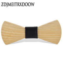 New 2016 Fashion design Personality Wooden Bow Tie Butterfly Ties For Men Jewelry Accessories Christmas present Wood Bow tie(China)